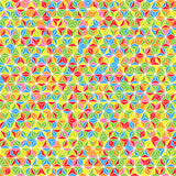Triangles Background. Abstract Triangles Geometric Vector Seamless Background Stock Image