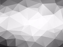 Triangles background black and white Stock Photos