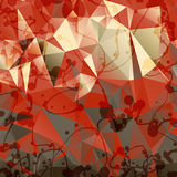 Triangles background with blobs and blots Royalty Free Stock Images