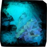 Triangles background. different blue. Trevolniki blue tones stock illustration