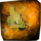 Triangles background. different calibrated. Travertiles yellow and green Royalty Free Stock Images
