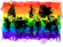 Triangles background. different-colored. Trevolniki striped tones banner Royalty Free Stock Image