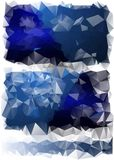 Triangles background. different yellow Royalty Free Stock Photos