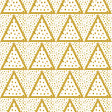 Triangles background with gold Dots seamless Royalty Free Stock Image
