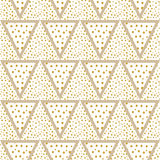 Triangles background with gold Dots seamless Royalty Free Stock Photography