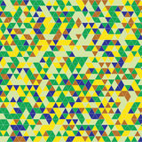 Triangles background green yellow Stock Photos