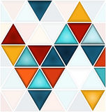 Triangles background with white copy space Royalty Free Stock Photography