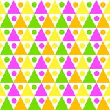Triangles and balls seamless texture. Seamless abstract colorful triangular shapes and balls. Abstract geometric texture pattern Royalty Free Stock Photos