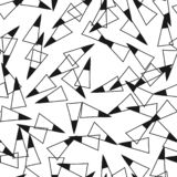 Triangles. Black and white seamless pattern. Geometric, abstract background for covers, textile. Doodle shapes. Vector vector illustration
