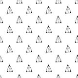 Triangles. Black and white seamless pattern. Geometric, abstract background for covers, textile. Doodle shapes. Stock Photography