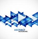 Triangles bleues d'affaires Photographie stock libre de droits