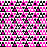 Triangles and Circles Seamless Pattern Stock Photo