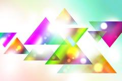 Triangles colorées Photos libres de droits