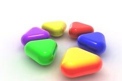 triangles colorées Images libres de droits