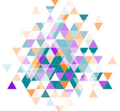 Triangles colorées blanches Photo libre de droits