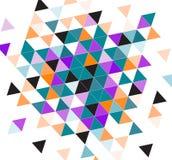 Triangles colorées blanches noires Photo stock