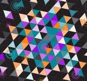 Triangles colorées noires Photo libre de droits