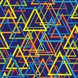 Triangles colored mosaic seamless pattern Royalty Free Stock Photography