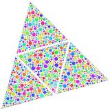 Triangles containing bubbles  Stock Photo