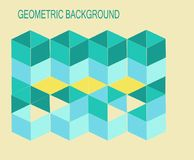 3-D Cubical solid shaped Geometrical background Royalty Free Stock Photo