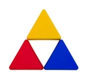 Triangles d'isolement colorées Photo libre de droits