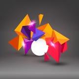 Triangles 3d multicolores de vecteur Abstraction Élément pour le moder Images stock