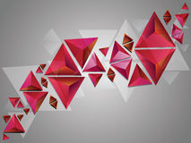 Triangles 3d rouges Photo libre de droits