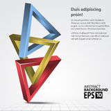 Triangles 3D Shape, Vector Illustration. Stock Photo