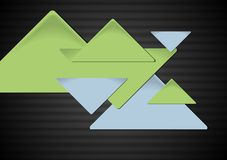 Triangles on the dark background. Vector Royalty Free Stock Images