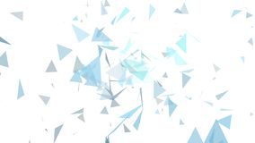 Triangles de couleurs abstraites bleu-clair et grises sur une couleur blanche illustration libre de droits
