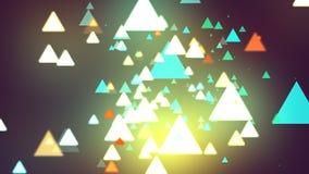 Triangles de fond foncé Photographie stock