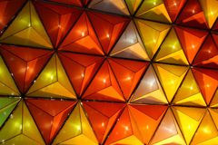 Triangles de lumière image stock