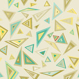 Triangles. Education colorful pattern. Royalty Free Stock Photo