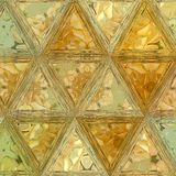 Triangles florales oranges dans le modèle continu image stock