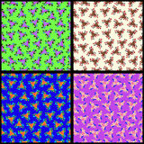Triangles and flourishes Collection of backgrounds Vector illustration. (vector eps 10 vector illustration