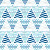 Triangles geometric abstract seamless pattern Stock Images