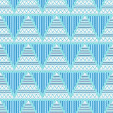 Triangles geometric abstract seamless pattern Stock Photo