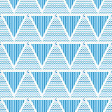 Triangles geometric abstract seamless pattern Stock Photography