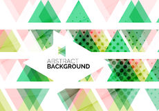 Triangles, geometric clean abstract background Royalty Free Stock Photography