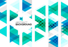 Triangles, geometric clean abstract background Stock Image