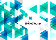 Triangles, geometric clean abstract background Stock Photography