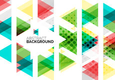 Triangles, geometric clean abstract background Stock Photos