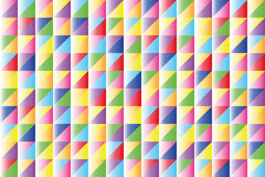 Triangles geometric pattern. Geometric background of brightly colored triangles Stock Photo
