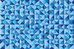 Triangles geometric pattern. Geometric background of triangles in different hues of blue royalty free illustration
