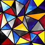 Triangles geometric pattern Royalty Free Stock Photos
