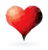 Triangles heart Stock Images