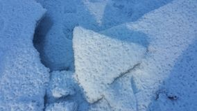 Triangles in the ice Stock Image