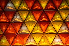 Triangles of light. In Vietnam royalty free stock photos