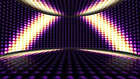 Triangles Lights Bulbs Animation, Background and Room, Rendering, Disco Dance, Loop, 4k