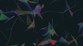 Triangles and lines.Abstract plexus background for different events and projects.Seamless loop. stock footage